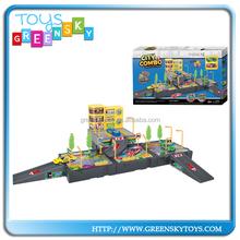 Pull back plastic rail car toy rail toy slot toy for children