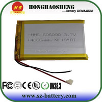 For replacement tablet PC battery 3.7v 4000mah rechargeable li-polymer battery