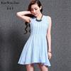 2015 summer new dresses apparel slim sleeveless star models pleated skirt apparel