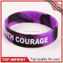 silicone rubber comaouflage college team band merry christmas bracelets