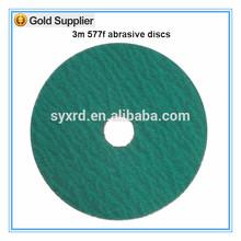 Los discos de corte de tela 3M 577F zirconia alúmina Backed