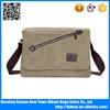 Trendy canvas vintage khaki messenger bag strong shoulder bag for men and women