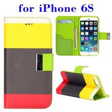 Bulk buy in China Magnetic PU Leather flip cover for iPhone 6S accessory