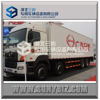 HINO 8x4 350hp 380hp cargo box dry cargo truck delivery Van