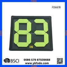football player change board, football player substitution board scoreboard FD687-2