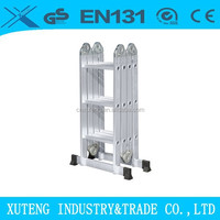 Aluminum extension ladder with ladder hinge