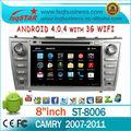 gps del coche para Toyota Camry (2007-2011) con la navegación 3G WIFI PIP IPOD CD TV SAO