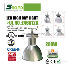 UL DLC 5 year 200W dimmable Led site lamp Fixture Led High Bays Industrial Led Light manufacturer replacement for HPM MH and HPS