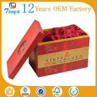 Red nested decorative gift boxes wholesale