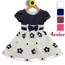 bambina blu navy e bianco abito da sposa designer partito abiti bambini bambino nomi vestito ragazza