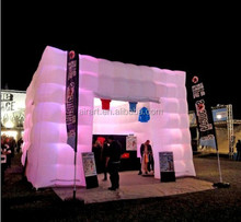 giant customized cube show inflatable tent