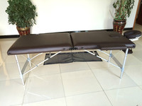 2014 hot sales! 2 section aluminum portable folding massage table