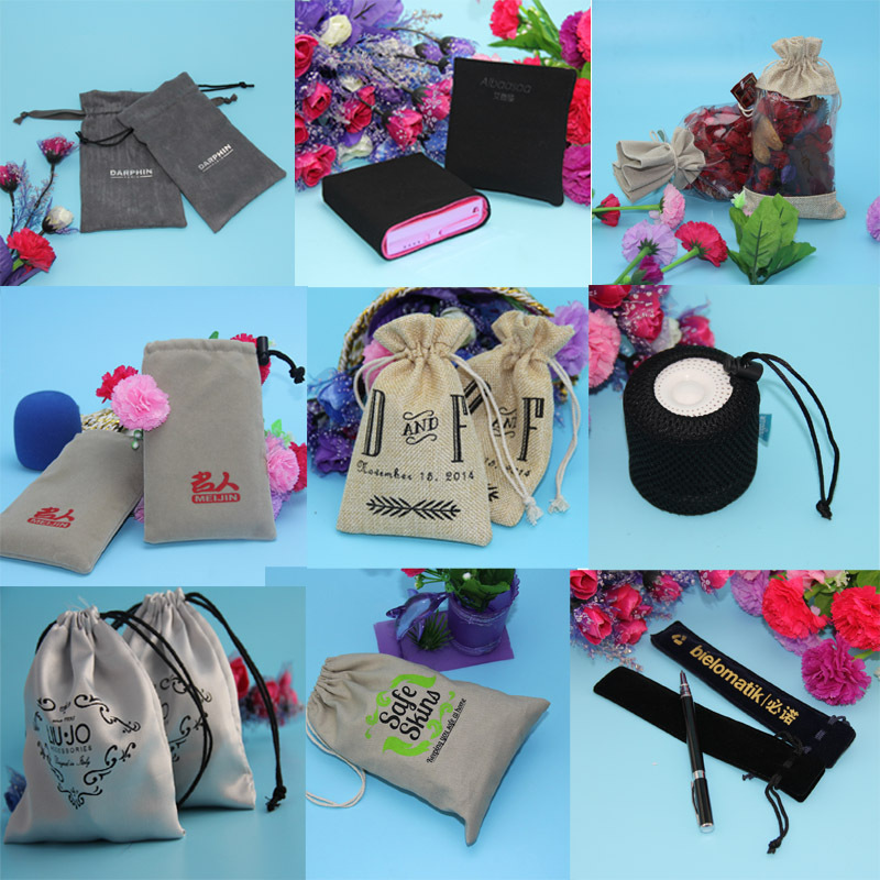 hot sales velvet bag manufacturers drawstring cloth bags