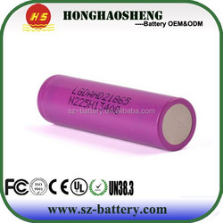 2015 rechargeable new 18650 25A 2000mah 3.7v LGHD2 battery