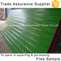 Trade Assurance linyi store fixture 15mm green melamine mdf v groove panel