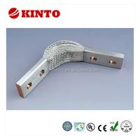 Flexible copper braid connector