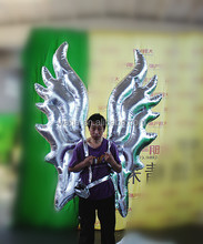 2015 new silver inflatable wing costume