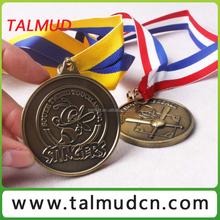 Eco recycle novelty type custom zinc die cast medal