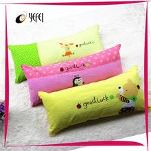 Goodluck 100%cotton screen printing cute design printed pillow