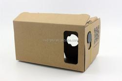 custom Google Cardboard custom Virtual reality 3D glasses Box-style VR 3d glasses with headband
