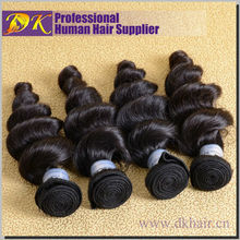 Large stock high quality 7A tangle free guangzhou brazilian loose wave human 32 inch hair extensions