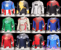 Hot Sale Men Long Sleeve T-shirt Custom Design Superhero Tops Plus Size OEM Tees