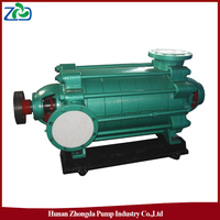 ZHONGDA D Type High Pressure Cast Iron Horizontal Centrifugal Multistage Electric Motor Water Pump