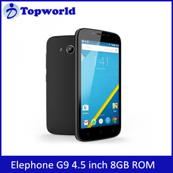 ELEPHONE G9 MTK6735 1.5GHz Quad Core 4.5 Inch FWVGA Screen 4G LTE Smartphone Cheap Android Phone