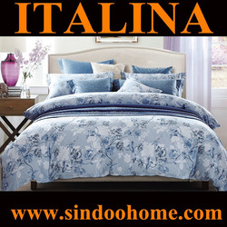 wholesale alibaba 2015 new design elegant floral print 100% twill cotton bedcloths for double bed