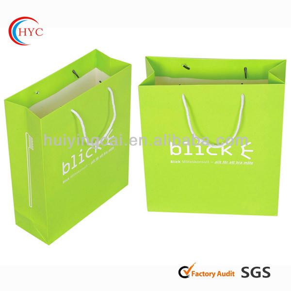 고급 종이 접힌 인쇄 쇼핑 가방 가방 공급 업체