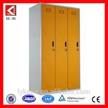 3 door clothing steel locker/wardrobe cabinet with mirror/3 door clothing cabinet
