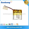 3.7v 170mah 602020 used car battery for portable dvd player