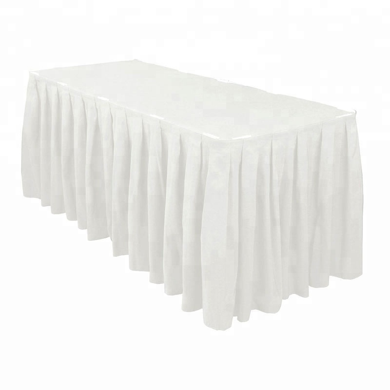 Buffet 90% Polyester 10% Spandex Plaine Table Plinthes Étapes De Mariage Styles