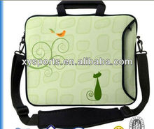 neoprene laptop case with handle and strip