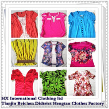 high quality hot sale lady's used knitting shirt for africa