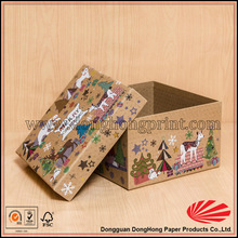 New style hot popular cardboard kraft box for christmas gifts packaging