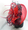 Ladies Big Red Sinamay Flower Fascinators For Party/Wedding With Net th031