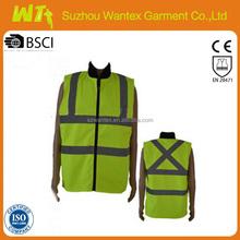 high visibility wholesaleyellow Safety Vest reflective hi vis worker dress bulletproof vest meets EN471
