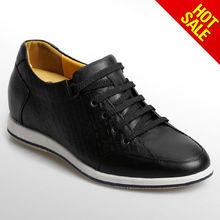 2014 Fashion Trend Sports Shoes /Men Elevator Leather /Alibaba China