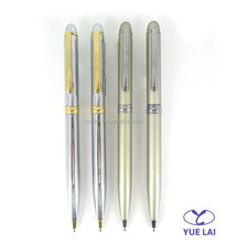 Wholesale metal twist silver ball pen for gift