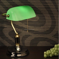 banking Glass Table Lamp
