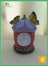 wholesale mini fairy house with solar light for garden decor MINI FLOWER HOUSE