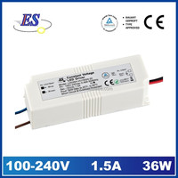 35W 24Vdc 1500mA Constant Voltage LED Driver
