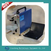 Worldslaser mini portable metal fiber laser engraving laser marking machine