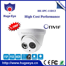 Hugeeye hi3518e 1.3mp home use easy to install p2p 960p like hikvision ip camera