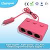 Car Cigarette Lighter Charger Adapter of USB 3 Triple Socket