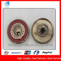 YX1339 Custom Fashion Metal Snap Enamel Button for Garments