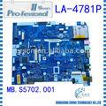 100% original del ordenador portátil de intel la-4781p placa base del ordenador portátil para d150 3 meses de garantía