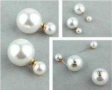 Neweat Fashion Trend Jewelry Earrings , Pearl Double Earring OEM/ODM Service, Factory Outlet