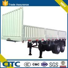 China manufacturer flat side wall open semi trailer heavy duty dump truck